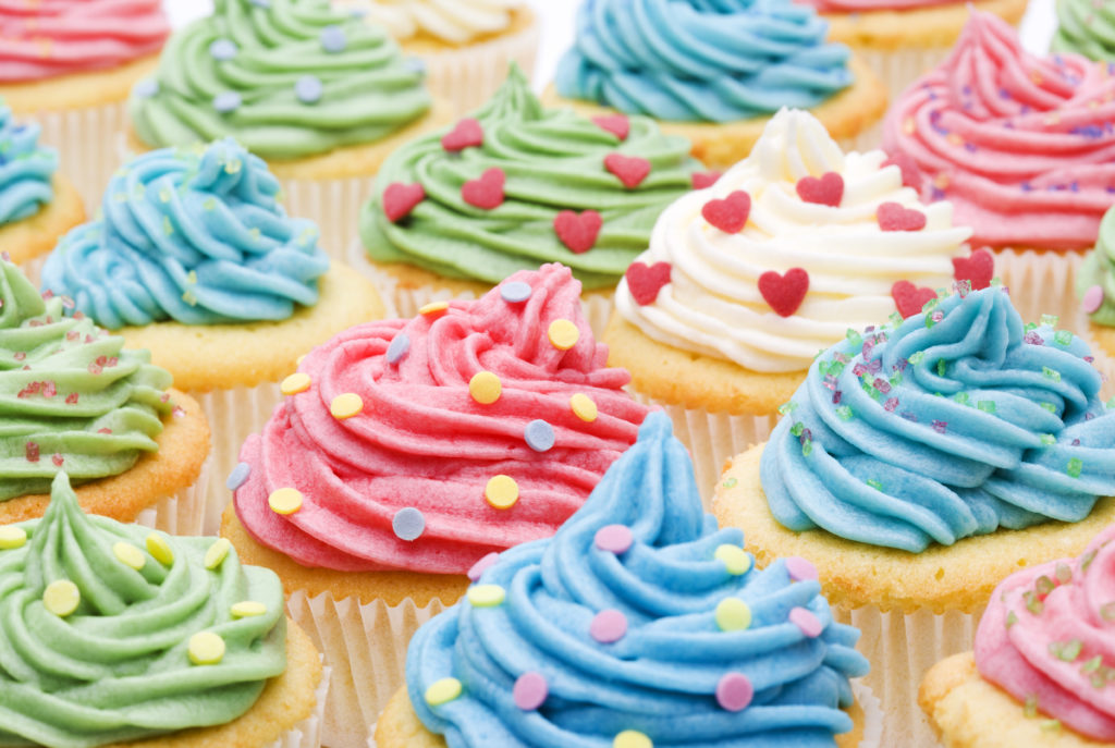 Cupcake Delight Stock Photo